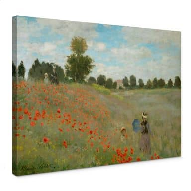 Claude Monet - Poppy Field at Argenteuil Canvas print