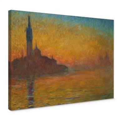 Leinwandbild Monet - Venedig bei Sonnenuntergang