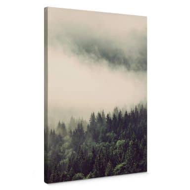 Leinwandbild Nebel im Wald 02