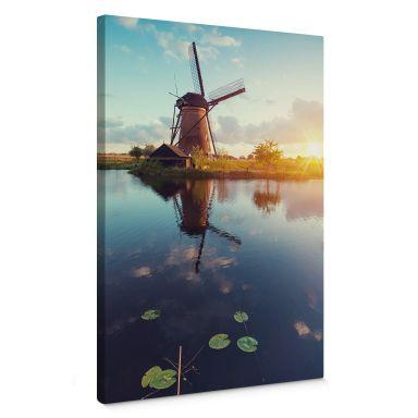 Leinwandbild Holländische Windmühle
