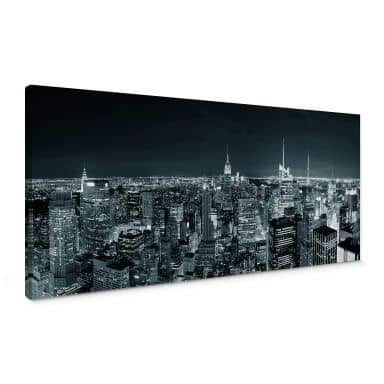 New York at night 2 - Panorama Canvas print