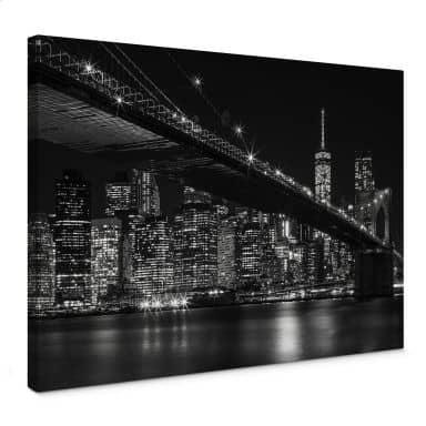 Leinwandbild New York bei Nacht