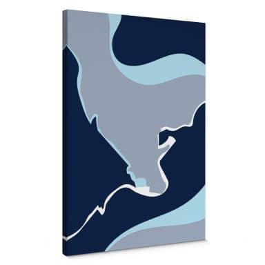 Leinwandbild Nordic Creators - Abstract Blue