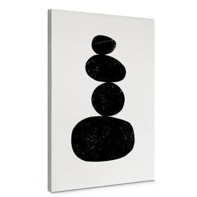 Leinwandbild Nouveauprints - Pebbles 3 black