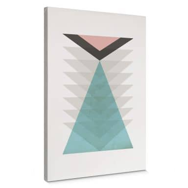 Leinwandbild Nouveauprints - Totem aqua & pink