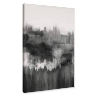 Leinwandbild Nouveauprints - Watercolour Brush Strokes (schwarz)