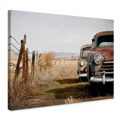Leinwandbild Old Rusted Cars
