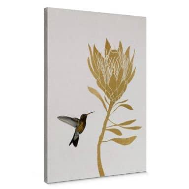 Canvas Orara Studio - Hummingbird and Flower