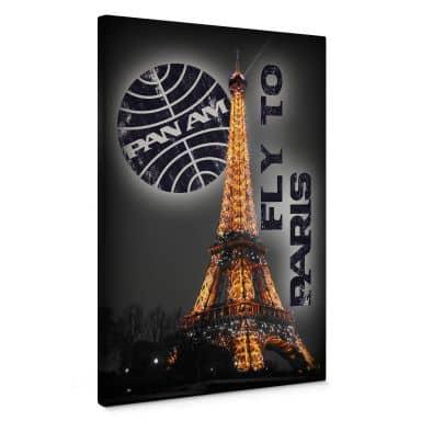 Paris Eiffelturm beleuchtet