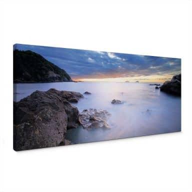 Leinwandbild Meeresbucht - Panorama - 80x30 cm
