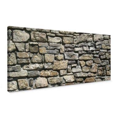 Natural stone wall Canvas print