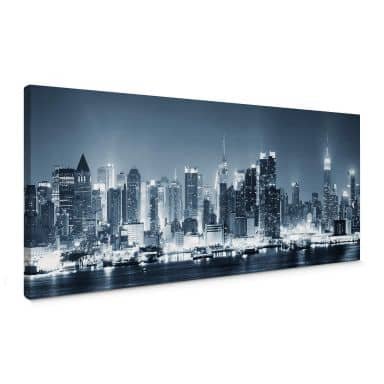 Tableau sur toile - New York at Night 1 Panorama