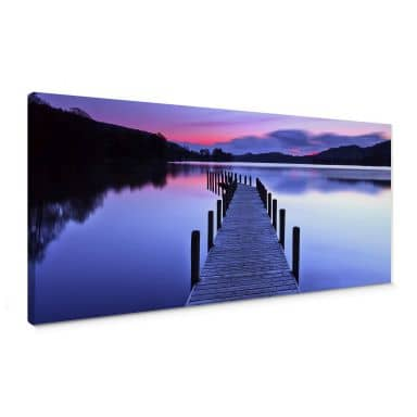 Lake Panorama Canvas print
