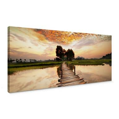 To the other Side - Panorama Canvas print