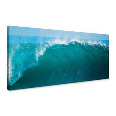Leinwandbild Perfect Wave - Panorama