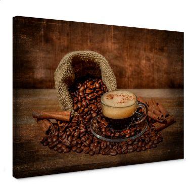 Leinwandbild Perfoncio - Kaffee rustikal