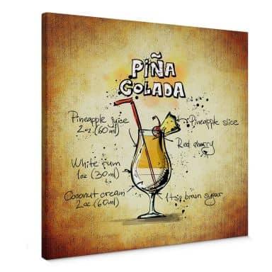 Leinwandbild Pina Colada - Rezept