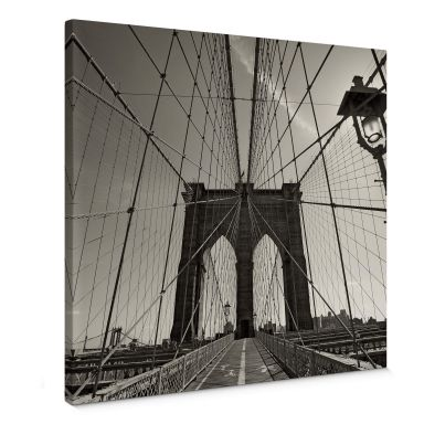 Brooklyn Bridge in Perspective Canvas print square