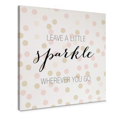 Tableau en toile Confetti & Cream - Leave a little spa a little sparkle - Carré