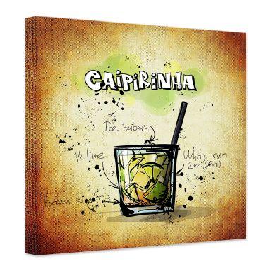 Leinwandbild Caipirinha - Rezept