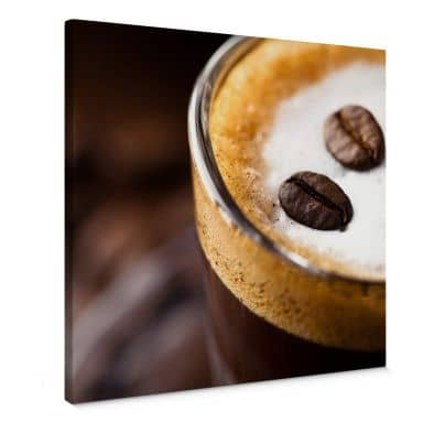 Leinwandbild Coffee 2 - Quadratisch