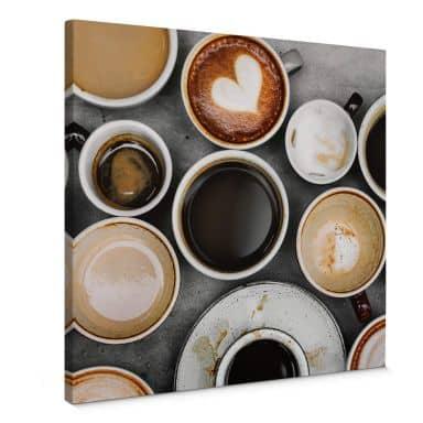Leinwandbild Kaffee Variationen - Quadratisch
