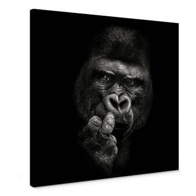 Leinwandbild Meermann - Der Gorilla - Quadratisch