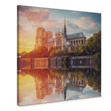 Leinwandbild Notre Dame Paris - Quadratisch
