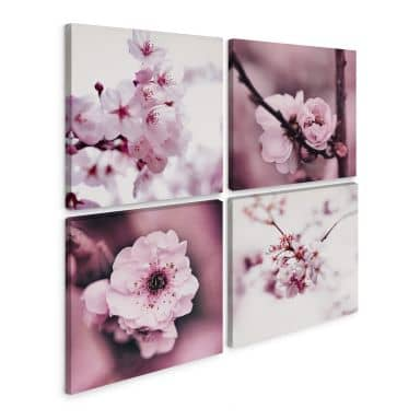 Leinwandbild Kirschblüten (4-teilig)