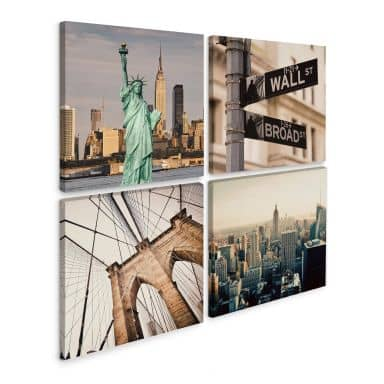 Leinwandbild New York (4-teilig)