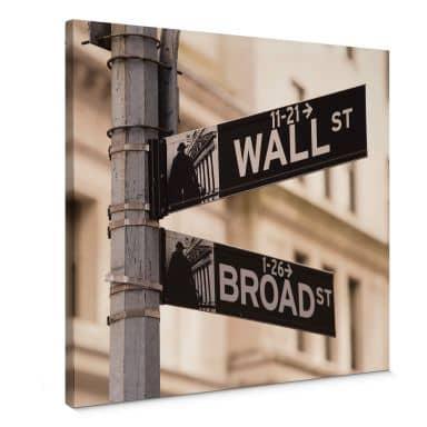 Leinwandbild Wallstreet - Quadratisch