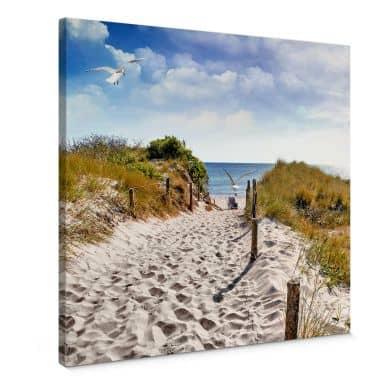 Leinwandbild Way to the Beach - Quadratisch