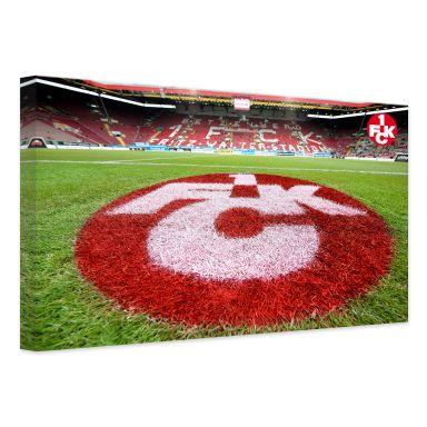 Leinwandbild 1. FC Kaiserslautern - Rasen Logo