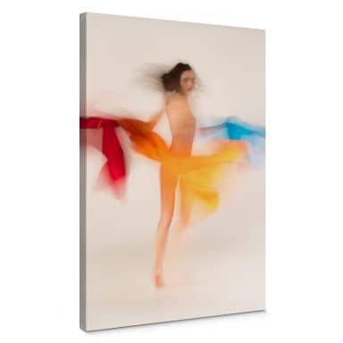 Leinwandbild Raga - Tanzende Farben