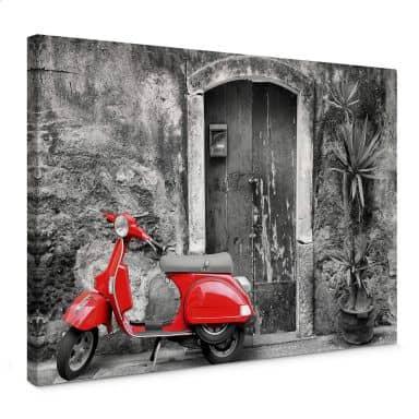 Rød scooter - sort/hvid