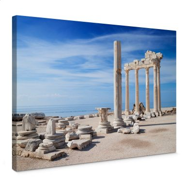 Leinwandbild Ruinen der Antike