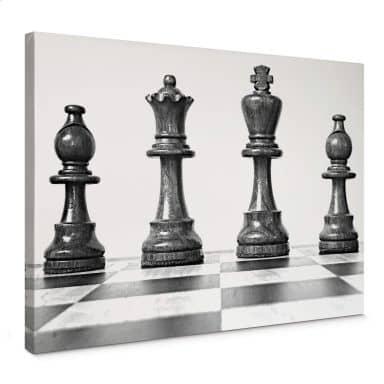 Leinwandbild Schach Symmetrie