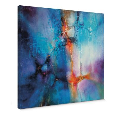Canvas Print Schmucker - Turquoise & Magenta