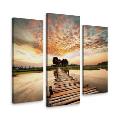 To the other Side (3 parts) Canvas print