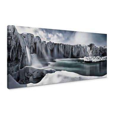 Leinwandbild Shcherbina - Islands Wasserfälle - Panorama