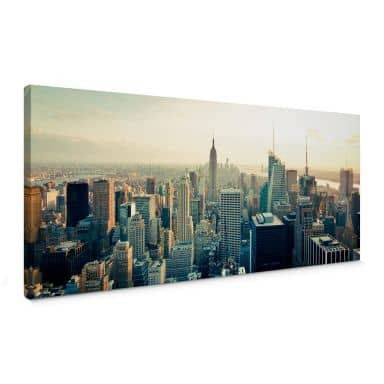 Leinwandbild Skyline von New York City - Panorama