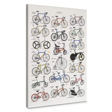 Leinwandbild Sparshott - Fahrräder