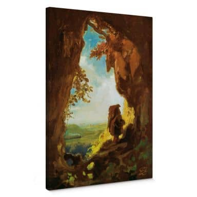 Spitzweg - Gnome Canvas print
