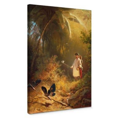 Spitzweg - The Butterfly Catcher Canvas print