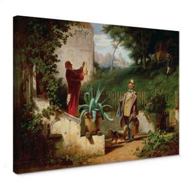 Tableau sur toile Spitzweg - Les amis d'enfance