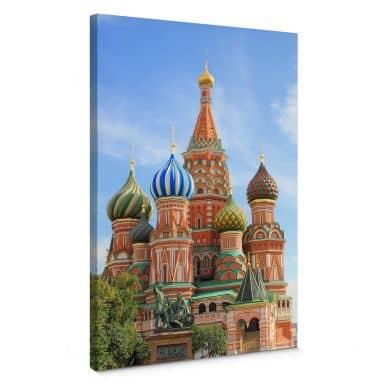 Leinwandbild St. Basilius Kathedrale Moskau