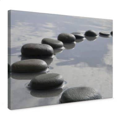 Stone path Canvas print