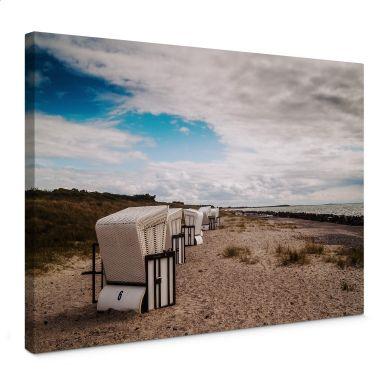 Leinwandbild Strandkörbe auf Hiddensee