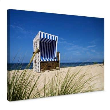 Leinwandbild Strandkorb