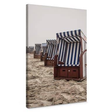 Leinwandbild Strandkorb auf Norderney